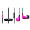 Capdase Hands-free Earphone TK-905-S STEREO Pink/Black for iPad, iPhone, iPod (HFIH4-ET41)