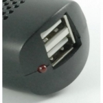 Capdase Dual USB Car Charger Black for iPhone/iPod (CA00-0701)