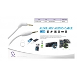 Capdase Auxiliary Audio Cable White 1.2M for iPad/iPhone/iPod (AV00-A00G)