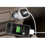 Capdase Dual USB Car Charger Joystick White (1 A) for iPad/iPhone/iPod (CAII-DJ02 )