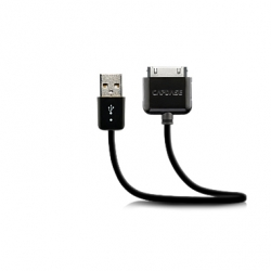 Capdase Sync&Charge Cable Black 18cm for iPad/iPhone/iPod (HCII-SJ01)
