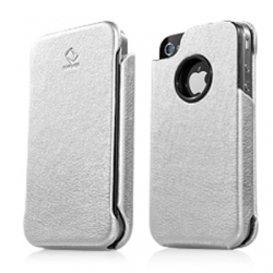 Capdase Capparel Protective Case Forme Silver/Black for iPhone 4, 4S (CPIH4-10S1)