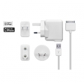 Capdase Power Kits World Travel White (Dual USB Adaptor+1.5 Cable) (TKII-PJ02)
