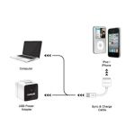 Capdase USB Power Adapter Atom Plug&Cable White for iPhone/iPod (TKII-A02G-EU)