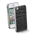 Cellularline Animalier Cover for iPhone 4, 4S - Croco (ANIMALIERIPHONE4S1)