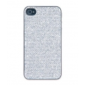 Cellularline Glitter Cover for iPhone 4, 4S - Silver (GLITTERIPHONE4SSIL)