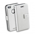 Cellularline Book-Style Ultra Slim Case for iPhone 4, 4S - White (BOOKSLIMIPHONE4SW)