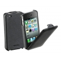 Cellularline Flap Case for iPhone 4, 4S - Black (FLAPIPHONE4BK)