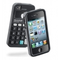 Cellularline Nerd Cover for iPhone 4, 4S - Black (NERDIPHONE4SBK)