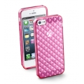 Cellularline Glam Cover for iPhone 5, 5S - Pink (GLAMIPHONE5P)