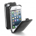 Cellularline Flap Case for iPhone 5, 5S - Black (FLAPIPHONE5BK)