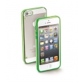 Cellularline Bumper Plus + Rubbered Frame for iPhone 5, 5S - Green (BUMPPLUSIPHONE5G)