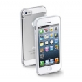 Cellularline Bumper Plus + Rubbered Frame for iPhone 5, 5S - White (BUMPPLUSIPHONE5W)