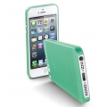 "Cellularline Ultra-Slim Transparent Cover ""035"" for iPhone 5, 5S - Green (035IPHONE5G)"