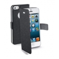 Cellularline Eco-Leather Book Style Slim Case with Flap for iPhone 5, 5S - Black (BOOKSLIMIPHONE5BK)