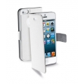 Cellularline Eco-Leather Book Style Slim Case with Flap for iPhone 5, 5S - White (BOOKSLIMIPHONE5W)