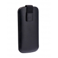 Cellularline Eco Leather Elegance Sleeve for iPhone 5, 5S - Black (ELEGANCESLIPHONE5)