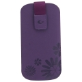 Cellularline Tatto Eco Nabuk Sleeve for iPhone 5, 5S - Violet (TATTOSLIPHONE5V)