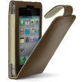 Cygnett Lavish Ultra-Soft Leather Case Brown for iPhone 4 (CY0089CPLAV)