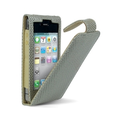 Cygnett Lavish Ultra-Soft Leather Case Perforated Grey for iPhone 4 (CY0112CPLAV)