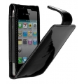 Cygnett Glam Patent Leather Case Black for iPhone 4, 4S (CY0093CPGLA)