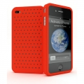 Cygnett Molecule Perforated Silicone Case Red for iPhone 4 (CY0098CPMOL)