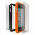 Cygnett Snap Duo Silicone Frame Orange&Black for iPhone 4 (CY0107CPSND)