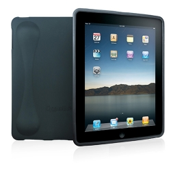 SecondSkin Soft Silicone Case Black for iPad (CY0040CISKI) with screen protector