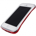 DRACO Design Elegance Aluminium Bumper for iPhone 5, 5S - Silver&Red (DR50A6-SRD)