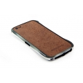 DRACO Design Vogue Skin Guard for iPhone 5, 5S - Brown (DRPIP50-LBR)