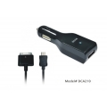 Dexim Car Charger + mini USB for iPhone 3G/S, 4/S, iPod`s, Black (DCA210-B)
