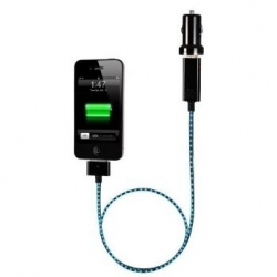 Dexim Compact Car Charger for iPad`s, iPhone 3G/S, 4/S, iPod`s, Black (DCA275-BL)
