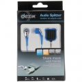 Dexim HeadPhones + Splitter, Blue (DWU042-L)