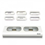 Dexim Dual Dock Charger White for iPhone, iPod (DCA037C-W)