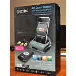 Dexim AV Dock Station with Remote Control for iPhone, iPod (DRA107)