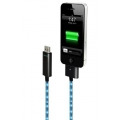 Dexim Visible Green Charge&Sync Cable, Black-Blue (DWA063BL)