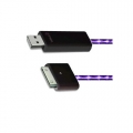 Dexim Visible Green Charge&Sync Cable, Black-Purple (DWA063BU)