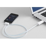 Dexim Visible Green Charge&Sync Cable, White-Blue (DWA063WL)