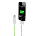 Dexim Visible Green Charge&Sync Cable, White-Green (DWA063WE)