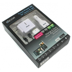 Dexim Travel Wall Charger + mini USB for iPhone 3G/S, 4/S, iPod`s, White (DPA034)