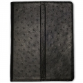 Dublon Leatherworks Multi Functional Case Black Ostrich for iPad 2 (MFC-ID2-BO)