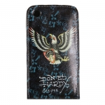 Leather Case Ed Hardy & Christian Audigier Flip Top Eagle Shield for iPhone 3G/3GS