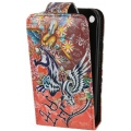 Leather Case Ed Hardy & Christian Audigier Flip Top Crazy Pantera for iPhone 3G/3GS