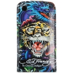 Leather Case Ed Hardy & Christian Audigier Flip Top Tiger Dragon for iPhone 3G/3GS