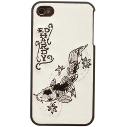 Ed Hardy Koi-Embroidered Silver/Black for iPhone 4 (EH4300)