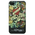 Ed Hardy Tattoo Case Love Kills Slowly Black for iPhone 4 (EH1002)