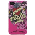 Ed Hardy Tattoo Case Love Kills Slowly Pink for iPhone 4 (EH1016)