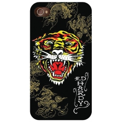 Ed Hardy Tattoo Case Tiger Dragon Black for iPhone 4 (EH1041)