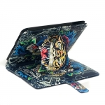Leather Case Ed Hardy Tiger Dragon for iPad