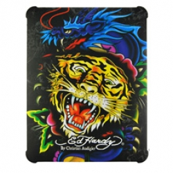 Hard Cover Ed Hardy Tiger Dragon for iPad